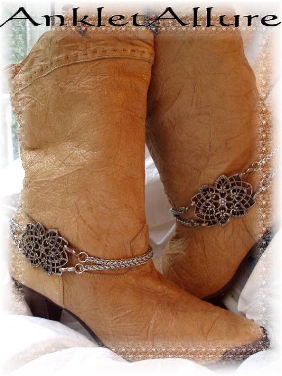 Southwestern Gypsy Heart Boot Chains Motorcycle by AnkletAllure