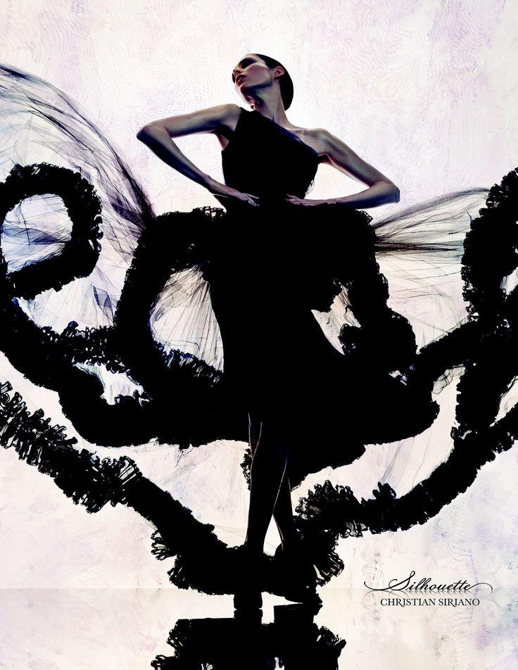 TatiTati Style ♔ Coco Rocha posing for Christian Siriano's Silhouette fragrance campaign