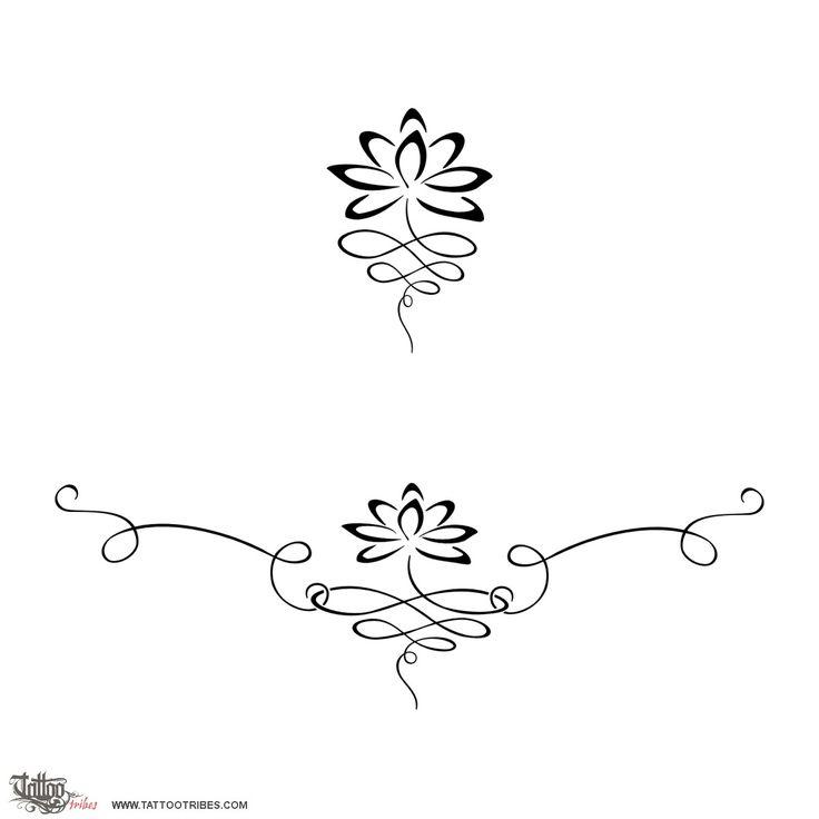 Tatuaggio di Lotus lower back, Equilibrio perfetto tattoo - TattooTribes.com