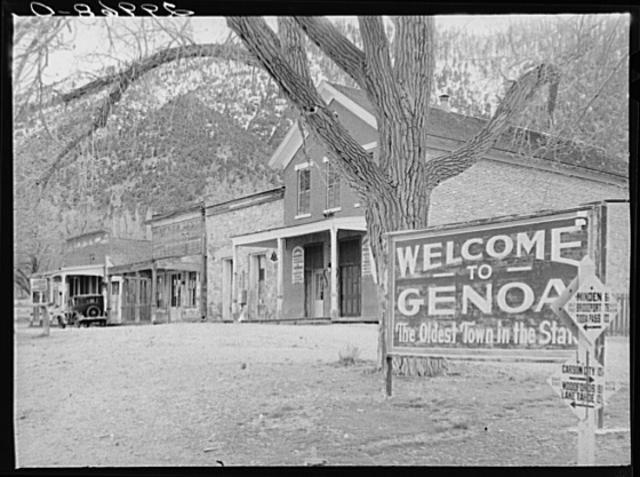 Genoa, Nevada in March 1940.