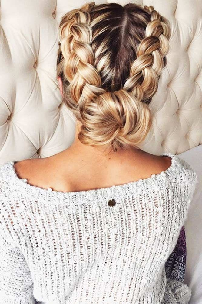 Christmas Party Braid Hairstyles ★ See more: http://glaminati.com/christmas-party-braid-hairstyles/