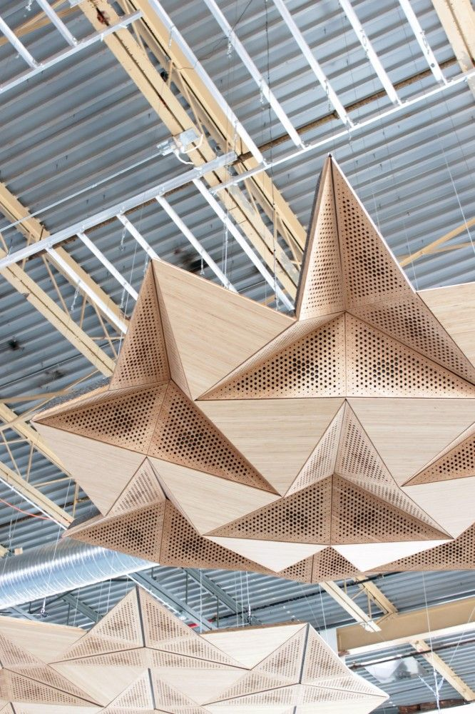 Resonant Chamber - Origami Architectural Acoustic Panels by rvtr // via designboom