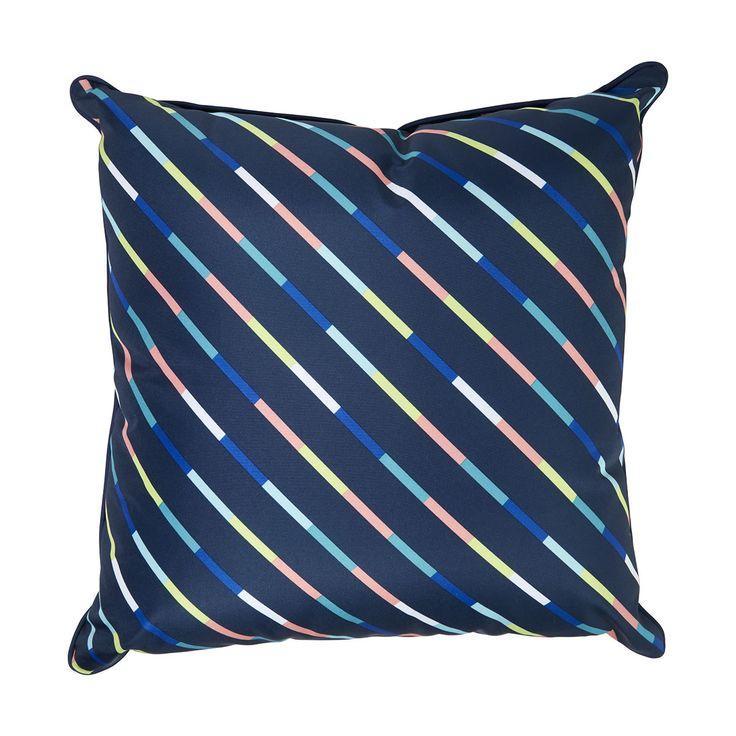 50cm Stripe Outdoor Cushion | KmartNZ