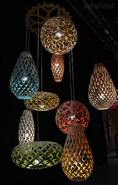 Exceptional David Trubridge Flat Pack Coral Pendant Lamps 2 |