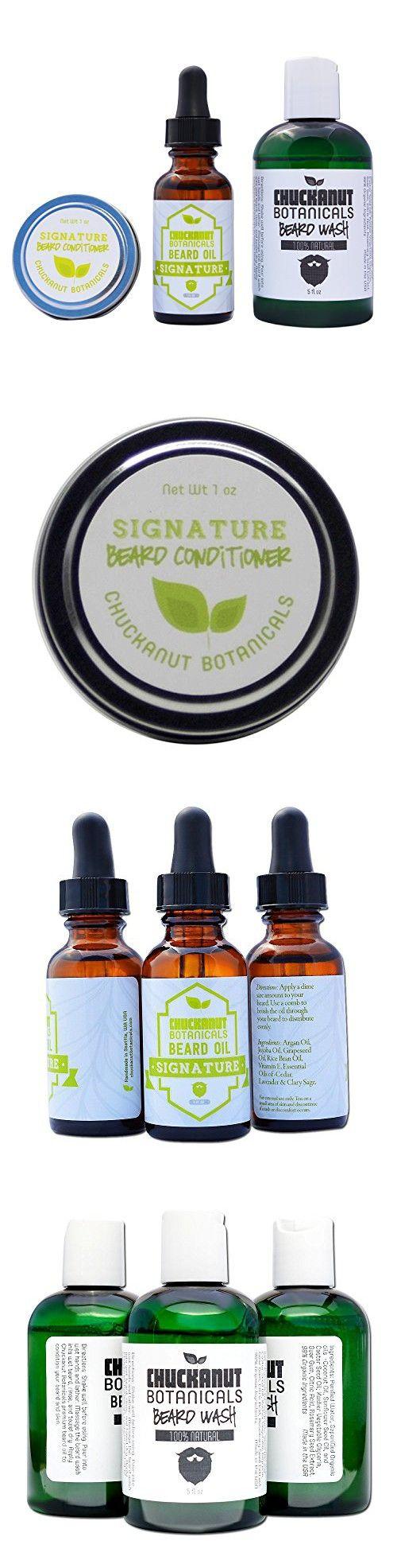 Beard Care Kit 100% Natural  Beard Wash, Beard Oil and Beard Balm by Chuckanut Botanicals