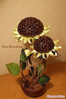 """Кофейный подсолнух: Дневник группы """"Топиарий или дерево счастья."""" - Страна Мам"""
