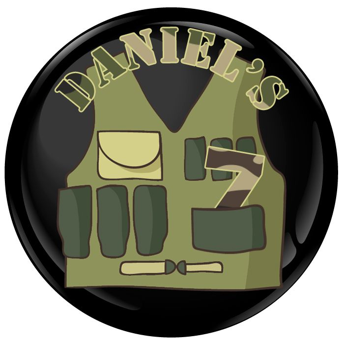 Army Personalised Birthday Party Badge #426