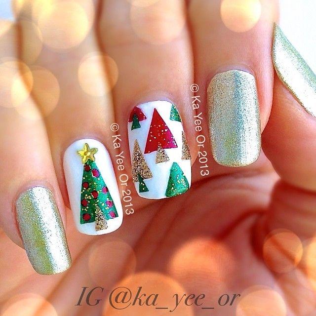 Best 25 christmas tree nails ideas on pinterest christmas tree christmas winter nails victoriasbeautysupplies prinsesfo Choice Image