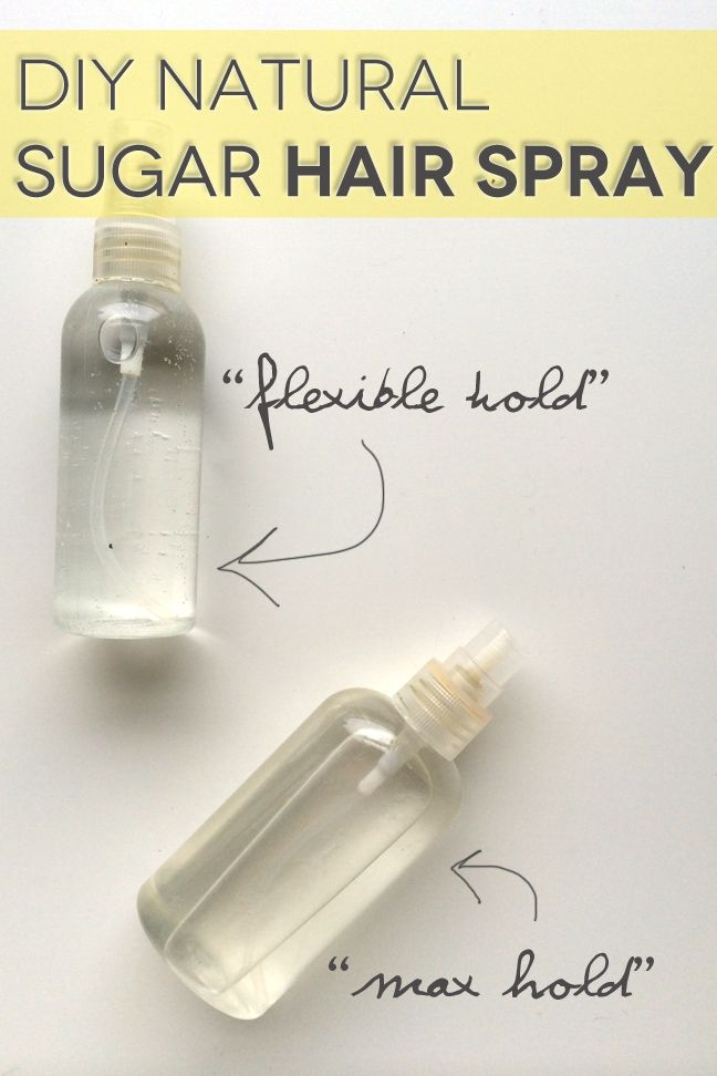 DIY Natural Sugar Hair Spray - simple and SWEET...You are going to be pleasantly surprised!
