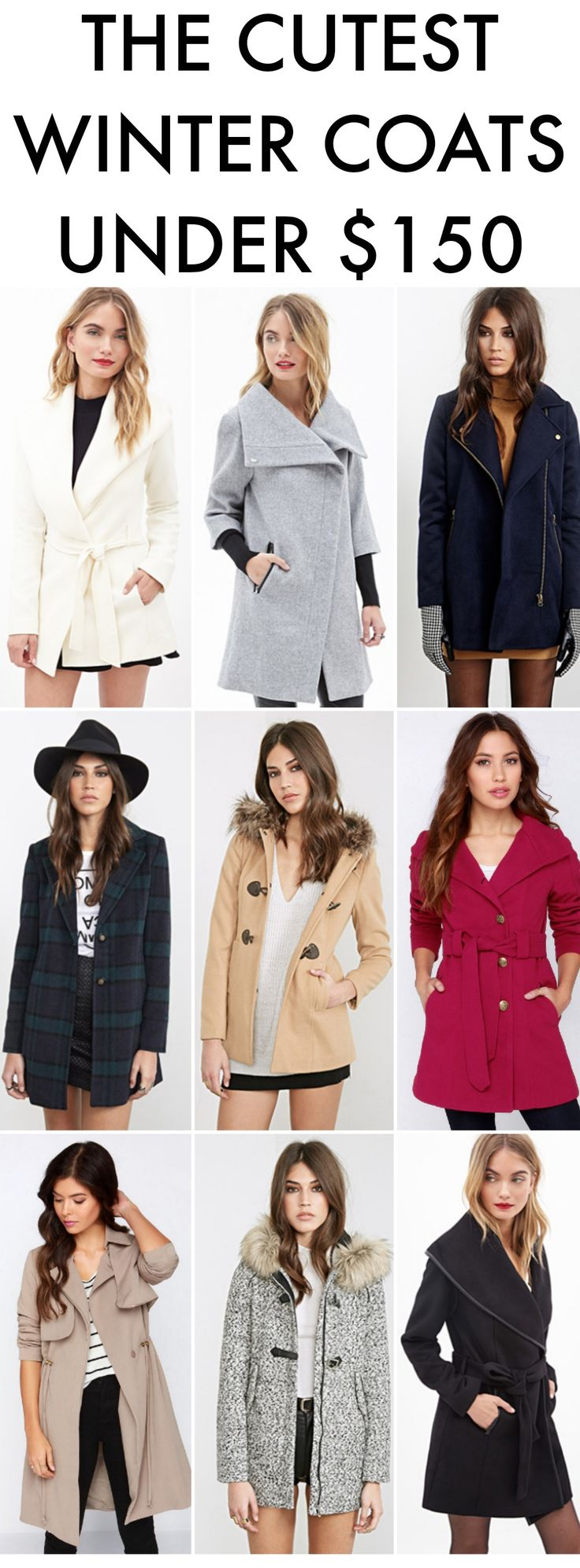 See 36 of the cutest winter coats, and they're all under $150 with many under $50!