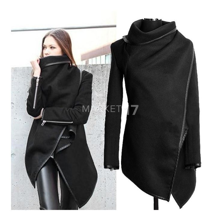 Elegantní dámský vlněný kabát s dlouhým rukávem - Market17