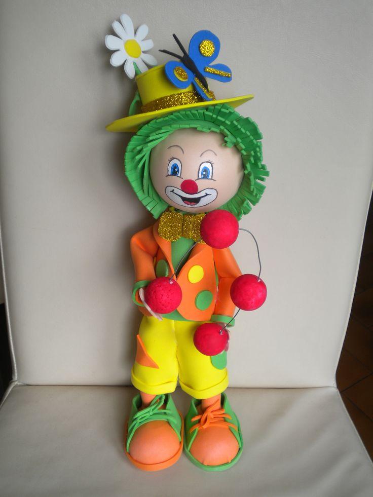 le clown jongleur