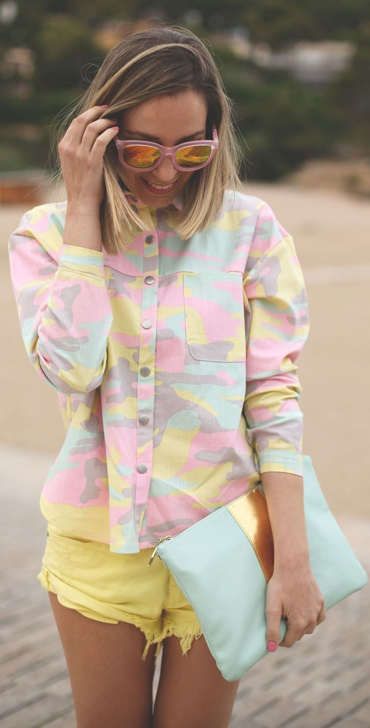 Choies Multicolor Women's Camo Shirt by My Showroom Blog