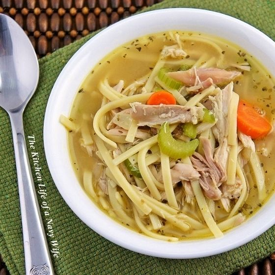 Quick and Easy Chicken Noodle Soup I made this tonight and it was soo ...