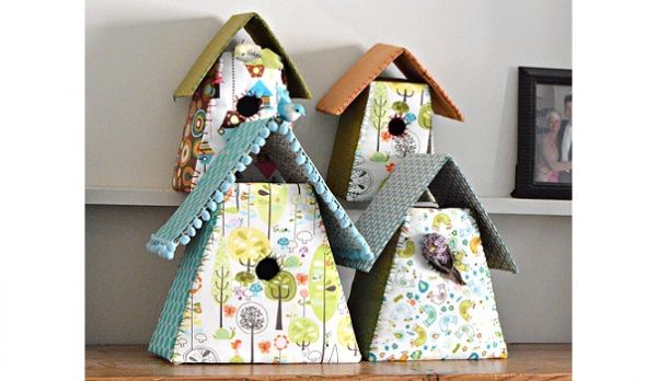 Tutorial: Scrap fabric birdhouses – Sewing | Sewing | CraftGossip | Bloglovin'