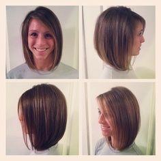 Slanted Bob Hairstyles w/bangs | long bob :) ...if I ever decide to cut my hair off again.
