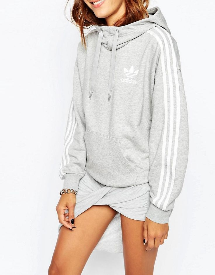 Adidas | adidas Originals 3 Stripe Pull Over Hoodie at ASOS ADIDAS Women's Shoes - http://amzn.to/2j5OgNB