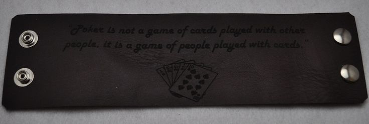 Hidden message Leather Cuff. Pick from what we have or design your own. Laser Engraved!