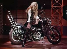 "areyouwiththeband: "" Brigitte Bardot in the Harley Davidson video is my aesthetic goal """