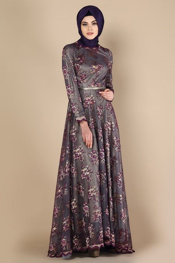 Fancy Party Wear Formal Hijabs with Abaya Collection 2016-2017 (22)