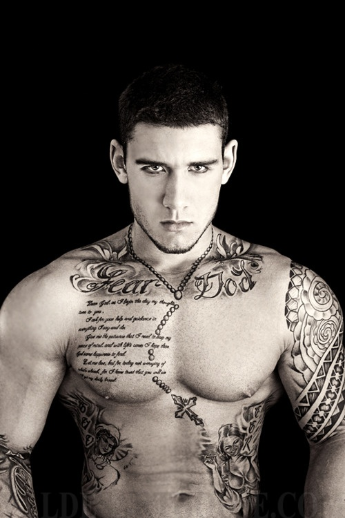 #pecs #muscles #tattoo #male