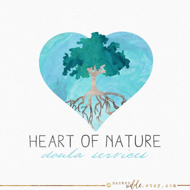 Heart Tree Logo Design , Watercolour Tree , Watercolor Heart , Tree in Heart , Tree with Roots , Rooted Tree , Doula Logo , Nature Logo by SacredWilde on Etsy https://www.etsy.com/au/listing/277490056/heart-tree-logo-design-watercolour-tree