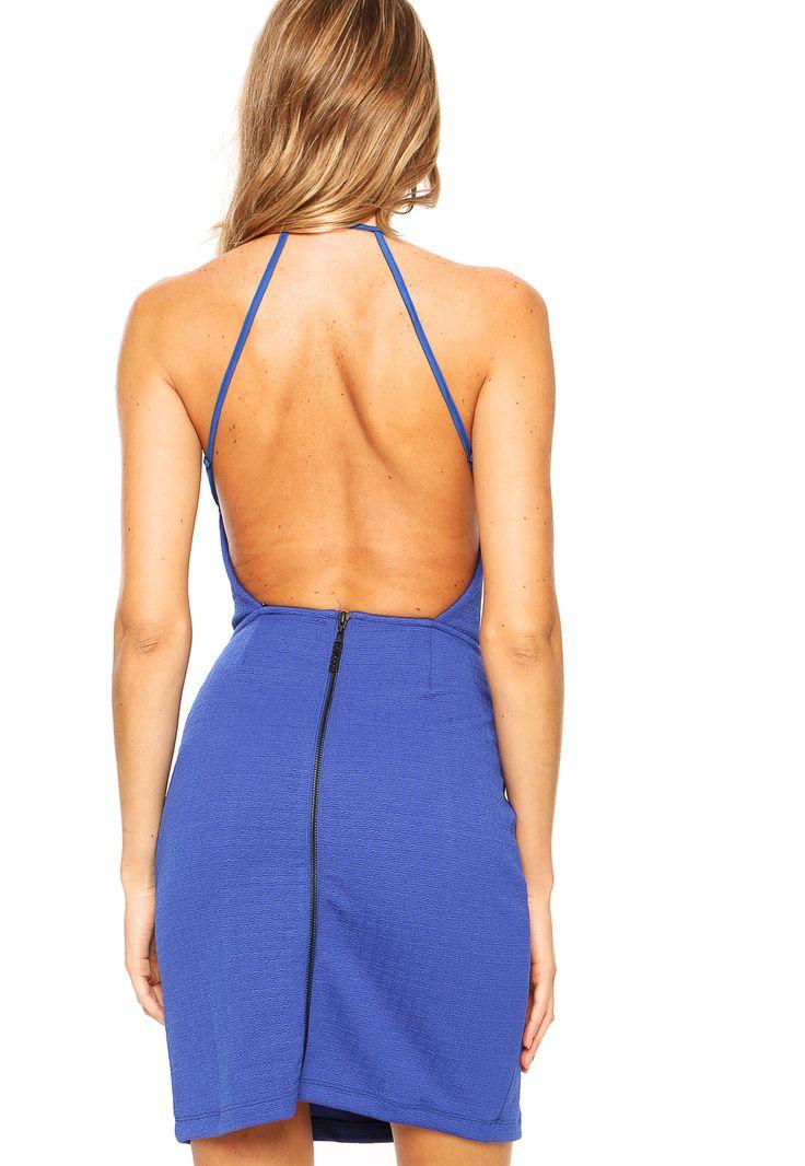 Vestido Colcci Textura Azul - Marca Colcci