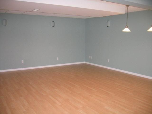 Basement Wall Color  Wythe Blue (Benjamin Moore Paint)