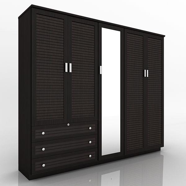 5 DOOR WOODEN DESIGNER WARDROBE