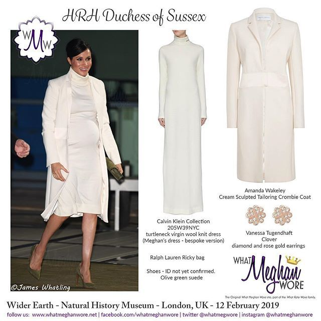 The Duchess Is All A Glow In Winter White For Thewiderearth Gala Performance Tonight Natural History Muse Skater Style Dress Fashion Royal Dresses