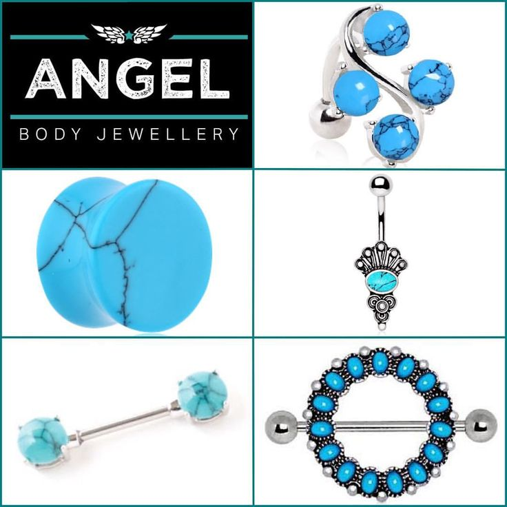 "2 Likes, 1 Comments - Angel Body Jewellery (@angelbodyjewellery) on Instagram: ""Turquoise belly bars, nipple bars, plugs, and more!"""