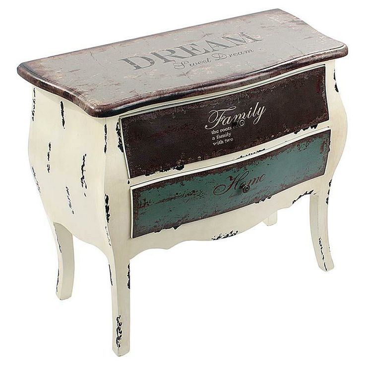 Wooden #drawer in white/multi color with pu leather 'dream' www.inart.com