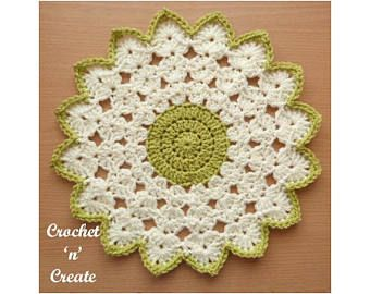 Crochê Shell Doily Crochet Pattern DOWNLOAD CNC115 | Etsy