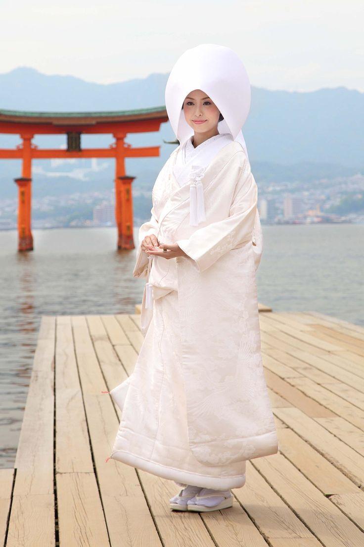 正絹 格子取花集紋 kimono japan wedding