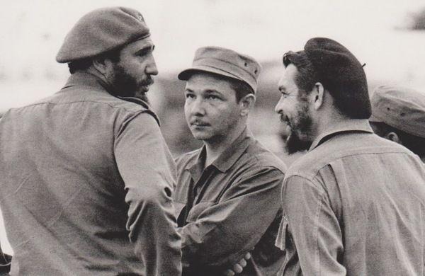 Герои Кубинской революции. Фидель Кастро, Рауль Кастро и Эрнесто Че Гевара. Гавана. Куба. 1959 г.