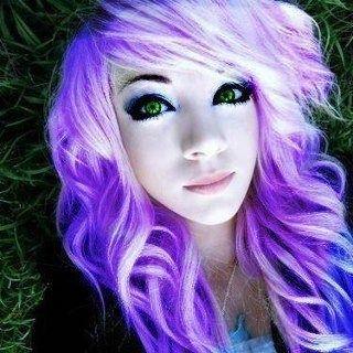 purplish pink hair