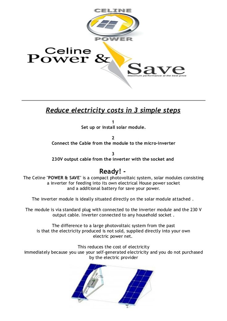 celine-power-and-saveinformation-pv-plug-to-the-socket-by-celine-power-spain by Celine Power Plug