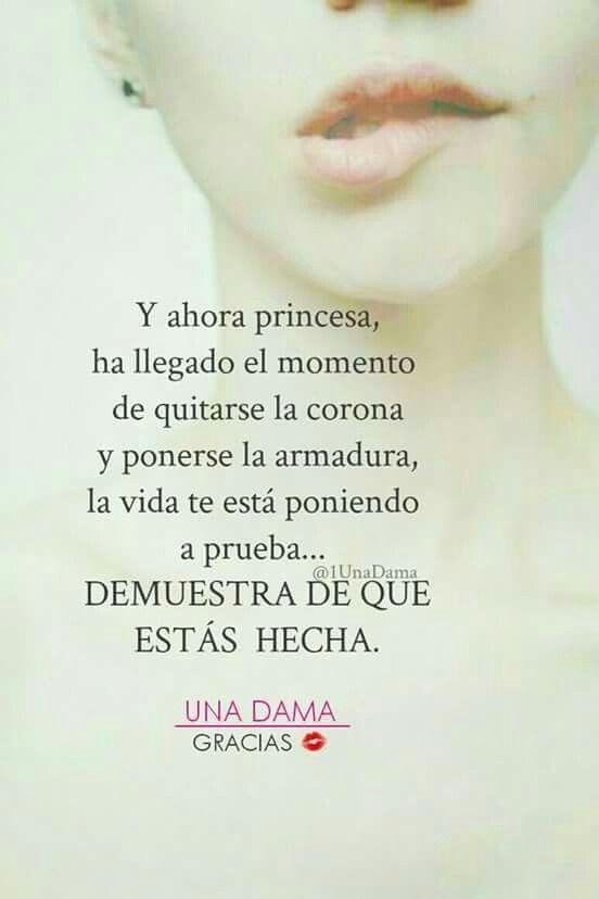 Y ahora princesa ...