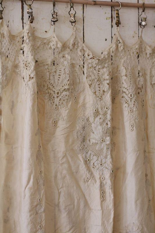 Linen cafe curtains