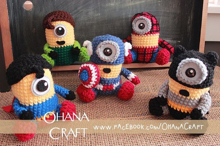 Amigurumi Minion Superheroes : hero minions handmade dolls by Ohana Craft https://www ...