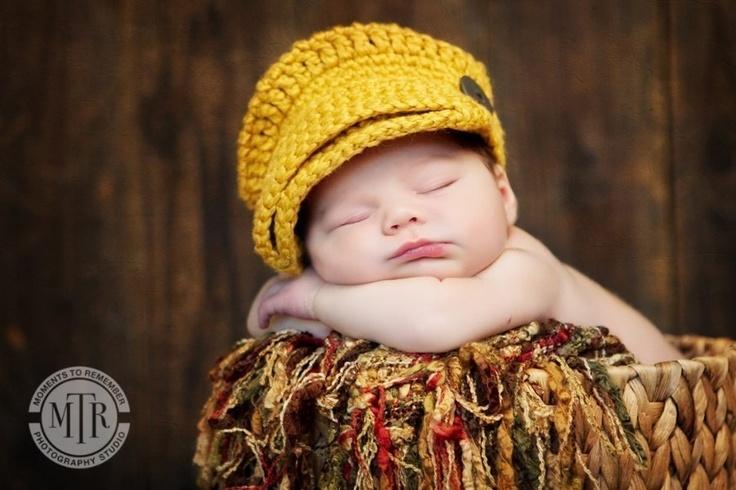 Newsboy Hat: Baby Babes, Newsboy Hats, Crochet, Photo Props, Baby Baby, Kids, Infants, Newborns, Knits