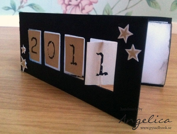 Crafts from pysselbook.se  Invitationcard to a newyears-party