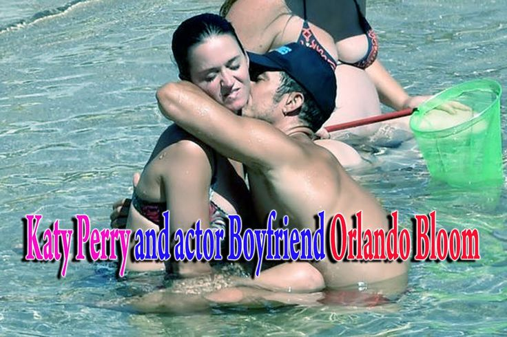 Katy Perry and actor Boyfriend Orlando Bloom frolicking on the beach in ...