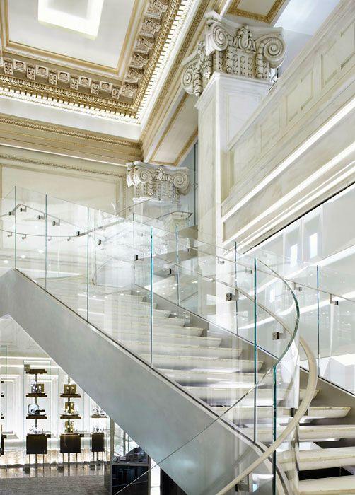 New York City. Tiffany & Co. Wall Street location, NYC. Interior Design: Elizabeth Bolognino with Yabu Pushelberg.