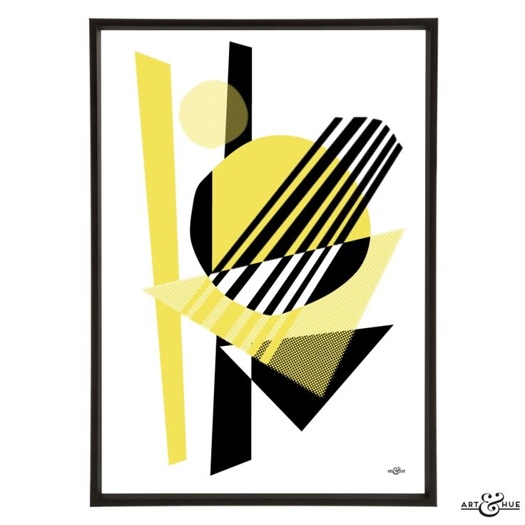 Midcentury Memphis Jazz abstract unframed pop art print on 310gsm fine art archival matte paper, 100% cotton, using pigment inks which last a lifetime.