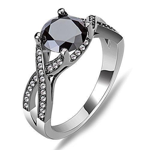 Bamos Jewelry White Black Stone Best Friend Party Wedding Gift Cz
