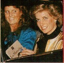 Di and Fergie attend Les Miserables