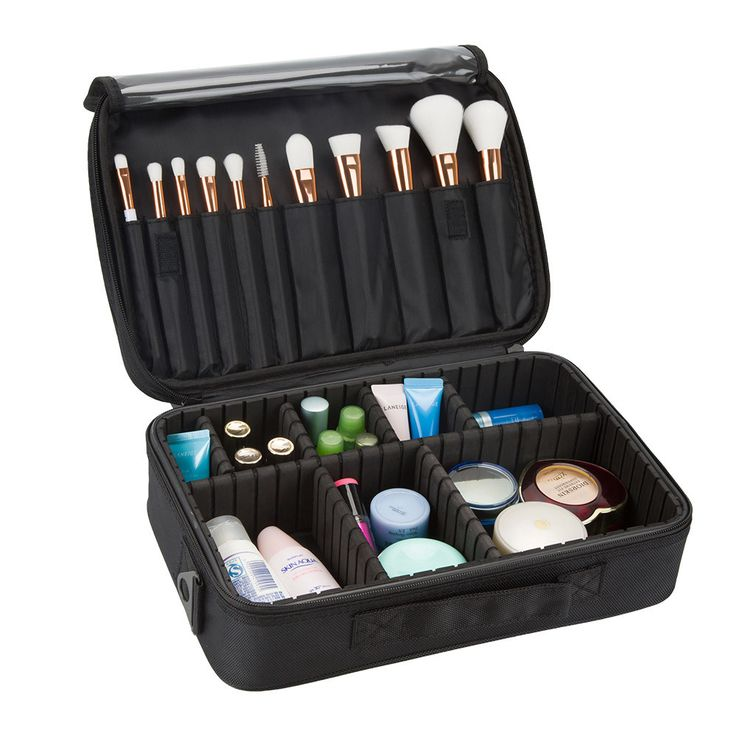 Makeup Train Case 3 Layers Cosmetic Organizer