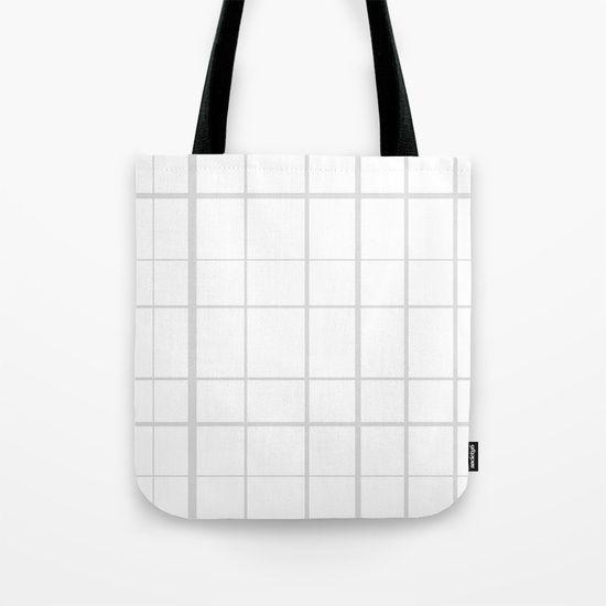 Grid Grey Tote Bag by Bravely Optimistic   Society6