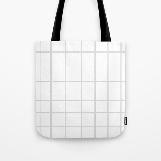 Grid Grey Tote Bag by Bravely Optimistic | Society6